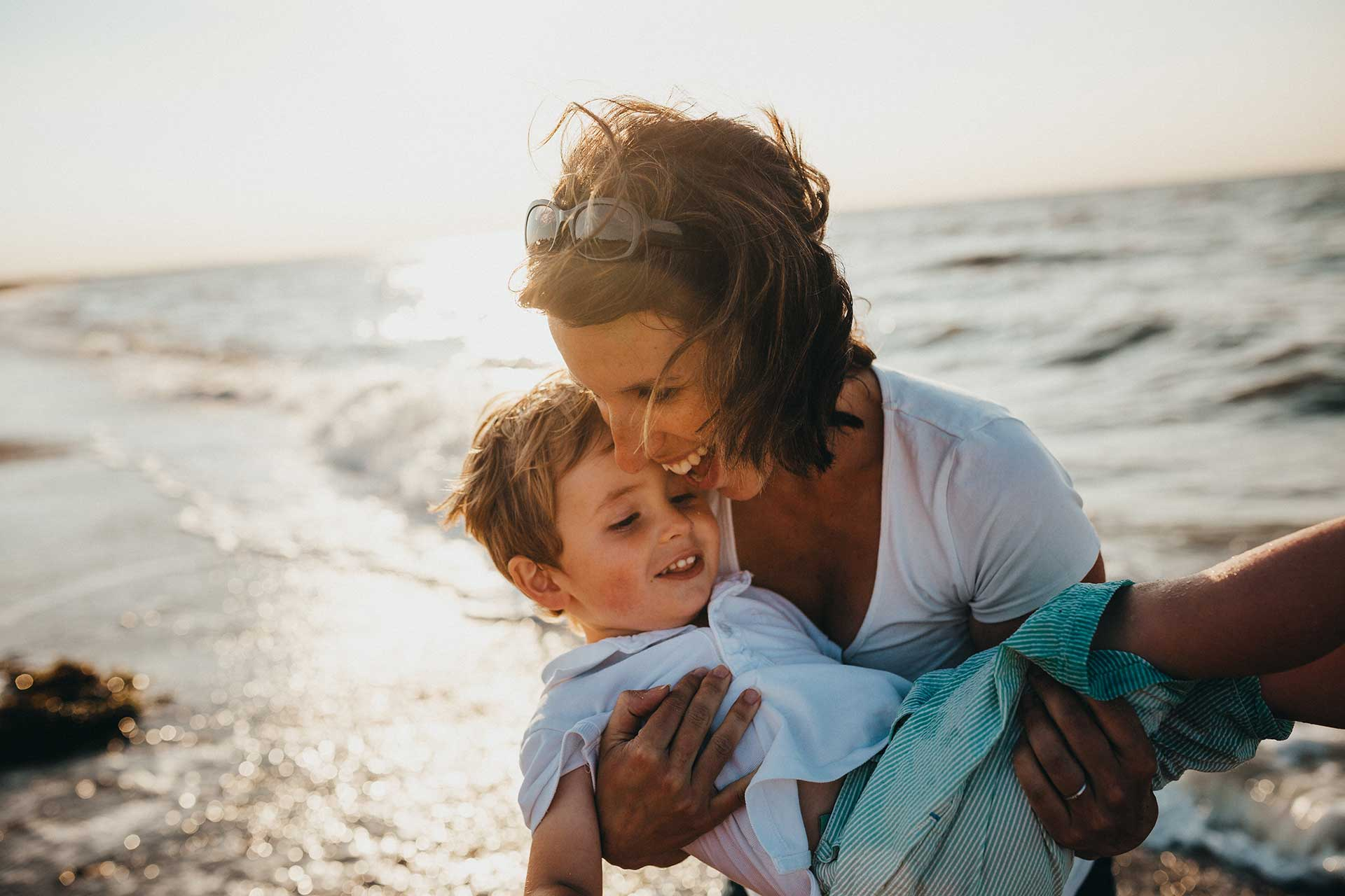 mother-and-son-at-beach